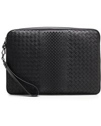 c0d52cd56569 Bottega Veneta Woven Laptop Case in Gray - Lyst
