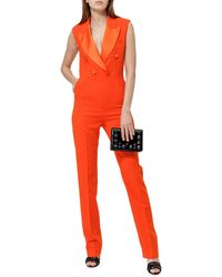 MSGM Double-breasted Jumpsuit - Orange
