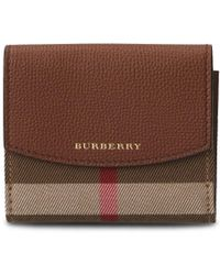 Burberry - Luna House Check Fold Wallet - Lyst