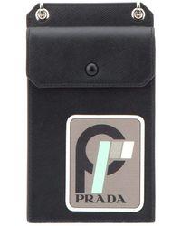 Prada Saffiano Leather Mobile Phone Case - Black