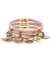 Chloé - Coin Charm Leather Bracelet - Lyst