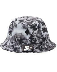 Marcelo Burlon Starter Cross Tie-dye Bucket Hat - Gray