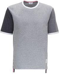 Thom Browne Short Sleeve Ringer T-shirt - Grey