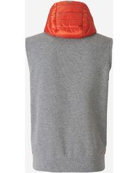 Herno Padded Hooded Gillet - Multicolour