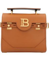 Balmain B-buzz 23 Top Handle Tote Bag - Brown