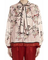 F.R.S For Restless Sleepers Tie-neck Blouse - Multicolour