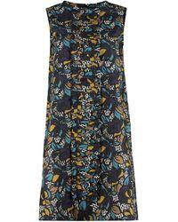 Max Mara Ghinea Printed Cotton Dress - Black