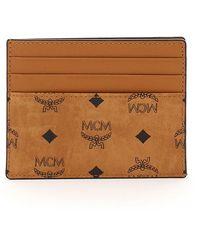 MCM Visetos Card Case - Brown