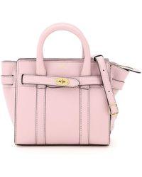 Mulberry Micro Zipped Bayswater Handbag - Pink