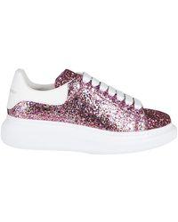 Alexander McQueen Glitter Oversized Sneakers - Pink