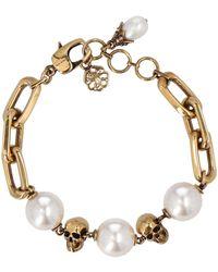Alexander McQueen Skull Chain Bracelet - Metallic