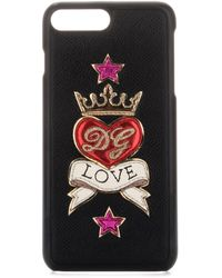 Dolce & Gabbana Love Emblem Iphone 7/8 Plus Case - Black