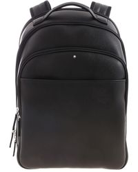Montblanc Logo Detailed Small Backpack - Black