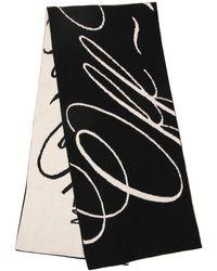 Off-White c/o Virgil Abloh Contrast Logo Scarf - Black