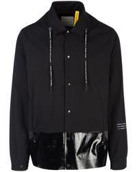 Moncler Genius Moncler X Fragment Hiroshi Fujiwara Logo Detail Hooded Jacket - Black