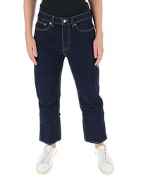 Burberry Cropped Jeans - Blue