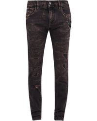 Dolce & Gabbana Distressed Skinny Jeans - Brown