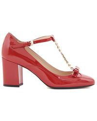 N°21 Bow Pumps - Red