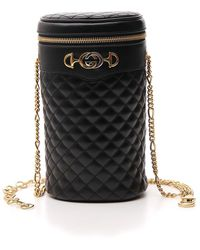 Gucci Interlocking G Quilted Leather Belt Bag - Black