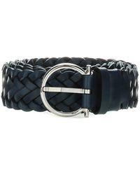 Ferragamo Woven Belt - Blue