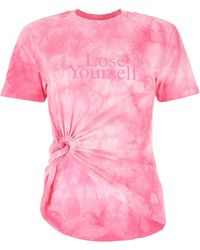 Paco Rabanne Tie-dye Knotted T-shirt - Pink