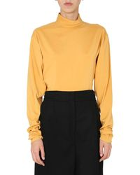 Lemaire Back-buttoned Shirt - Yellow