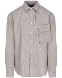 ADER error Flannel Shirt - Natural