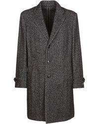 Ermenegildo Zegna Single-breasted Herringbone Coat - Grey