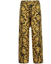 Versace Barocco Printed Relaxed Fit Pyjama Pants - Yellow