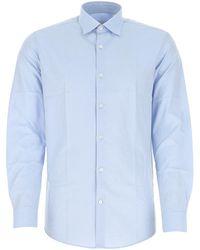 Ferragamo Straight-point Collar Shirt - Blue