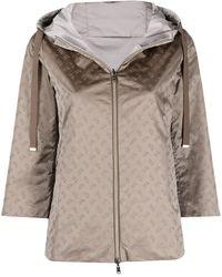 Herno Monogram Pattern Reversible Jacket - Gray