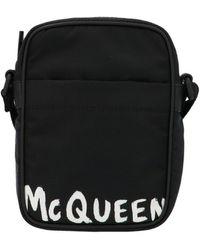 Alexander McQueen Other Materials Messenger Bag - Black