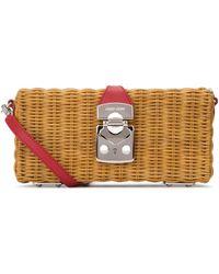 Miu Miu Straw Crossbody Bag - Multicolour