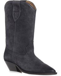 Isabel Marant Duerto Suede Boots - Black