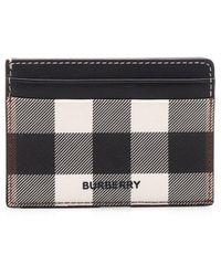 Burberry Check Card Case - Black