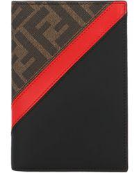 Fendi Ff Motif Passport Holder - Multicolor