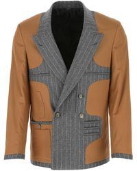 Fendi Deconstructed Double-breasted Jacket - Multicolour