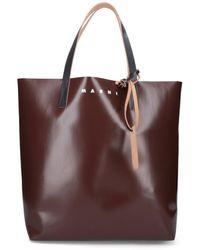Marni North-south Bi-coloured Shopping Bag - Multicolour