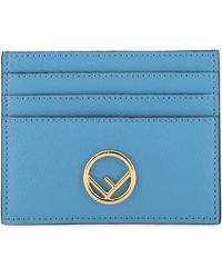 Fendi F Is Card Case - Blue
