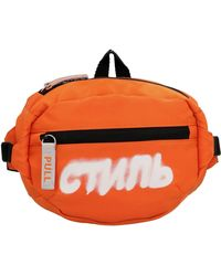 Heron Preston Graffiti Logo Belt Bag - Orange