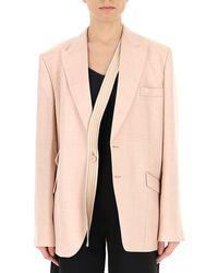 Stella McCartney Strap Detailed Single Breasted Blazer - Pink