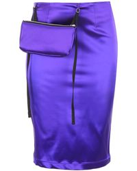 1017 ALYX 9SM Pouch Embellished Pencil Skirt - Purple
