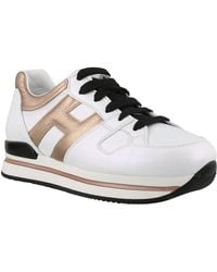 Hogan H222 Leather Sneakers - White