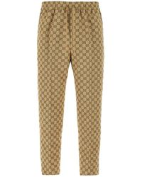 Gucci GG Canvas Jogging Trousers - Natural