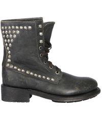 Ash Ralph Studded Boots - Black