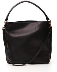 Saint Laurent Tag Hobo Bag - Black