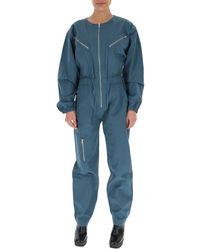 Étoile Isabel Marant Zipped Detailed Jumpsuit - Blue
