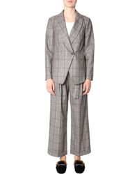 Brunello Cucinelli Crossover Front Suit - Gray