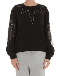Pinko Rhinestone Embellished Sweatshirt - Black