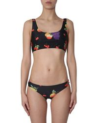 MSGM Fruit Print Bikini Set - Black